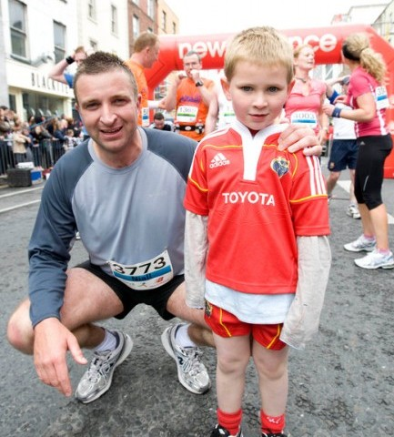 With my son Conor at the end of the Great Limerick Run